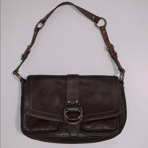 Coach Dark Brown Leather Shoulder Bag